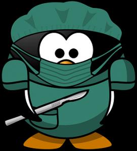 cartoon surgeon ready to operate