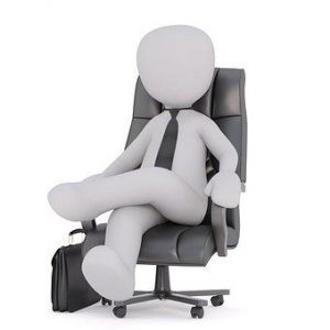 CEO sitting on chair comfortably