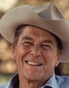 Ronald Reagan laughing