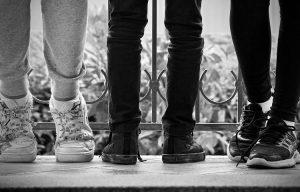 standing feet