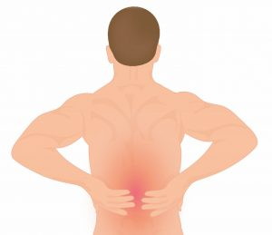 image of man with lower back pain